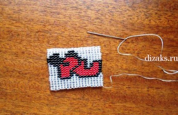 браслет из бисера ручного ткачества