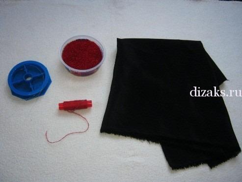 материалы для текстильных бус