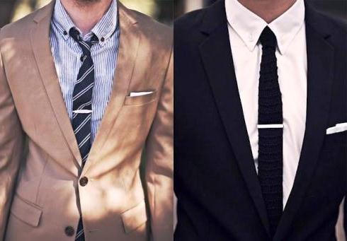 модные зажимы для галстуков