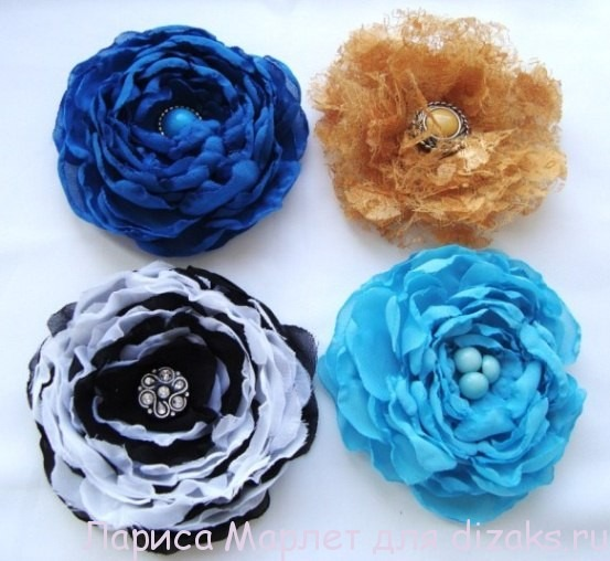 мастер класс цветок из ткани