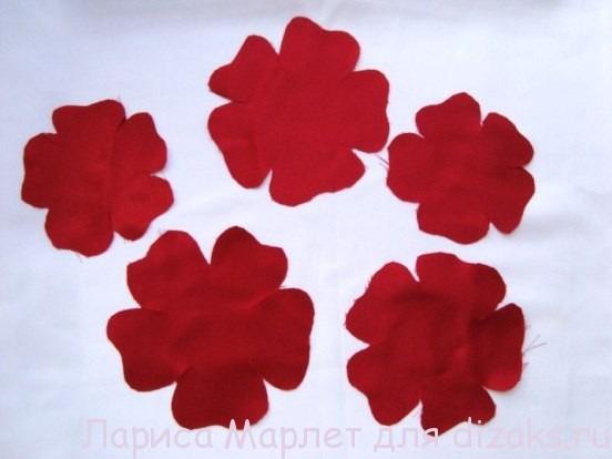 мастер класс цветок из ткани2