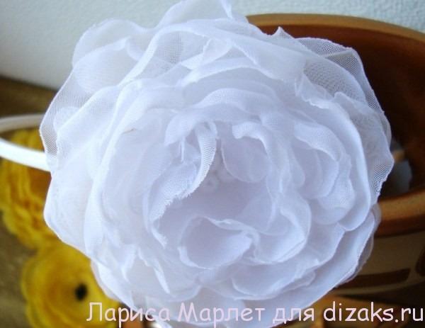 цветок для повязки свадебной