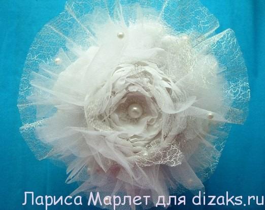 цветок из ткани для букета
