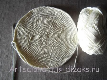 как вязать донышко шляпы