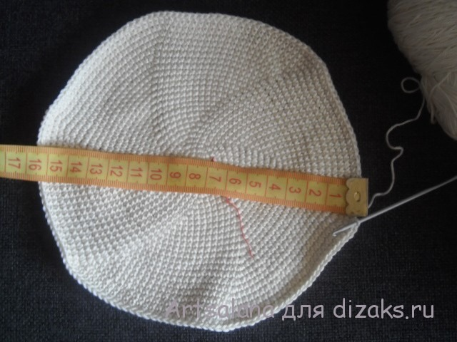 как связать донышко для шляпки