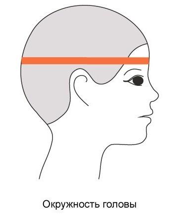 как измерить окружность головы