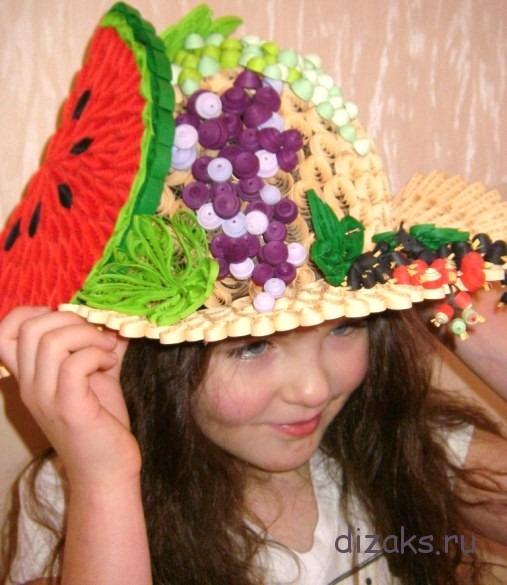 шляпка квиллинг