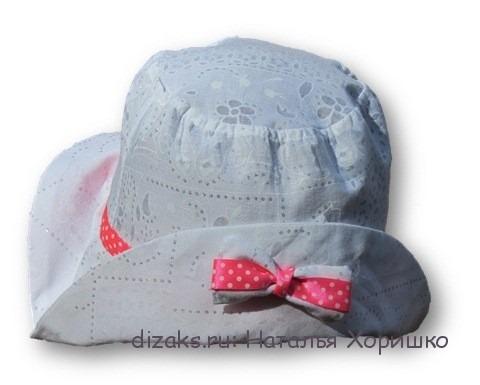 сшить шляпку из ткани для девочки