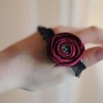 повязка на голову с цветком роза