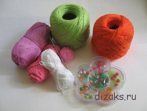 материалы для вязаного браслета