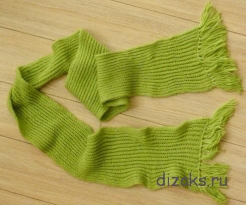 sharf-angliyskoy-rezinkoy-kopiya Как связать простой шарф английской резинкой