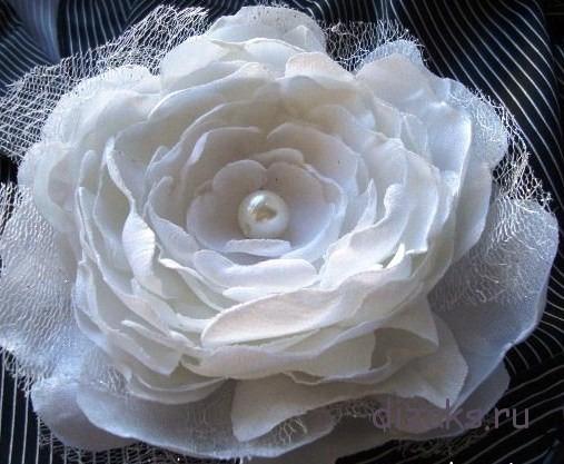 цветок из органзы