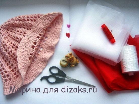 материалы для розы из ткани