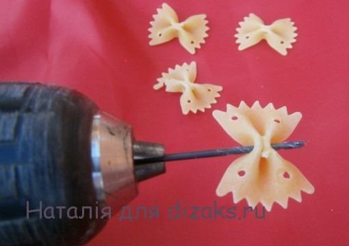 браслет из макарон своими руками