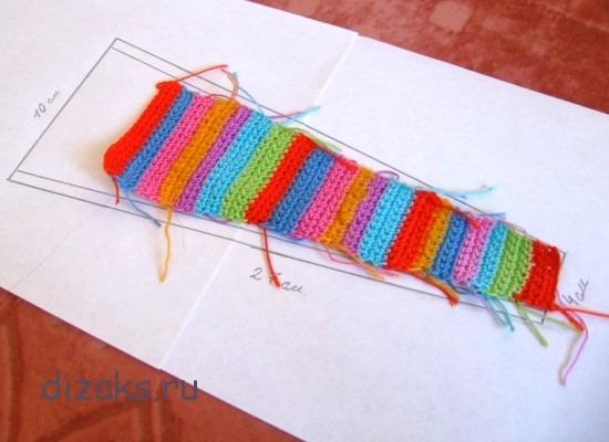 как связать повязку крючком для девочки