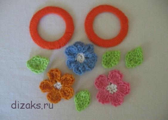 вязаные цветы своими руками