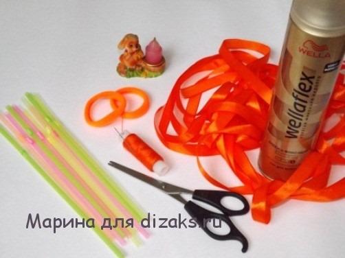 необходимые материалы: резинки спиральки