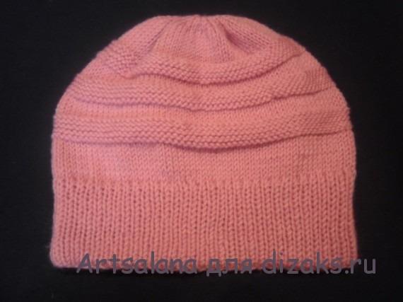 теплая шапка на зиму с двойной резинкой