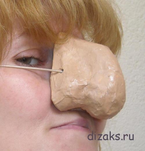 нос из папье-маше своими руками для бабы яги