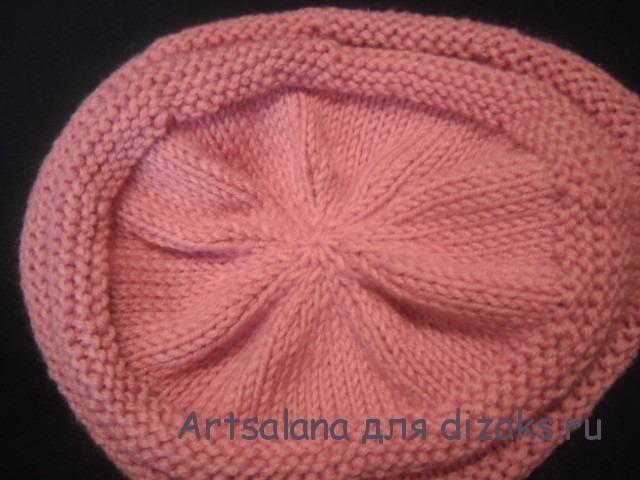 шапка вязаная с двойной резинкой
