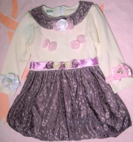 платье дюймовочки