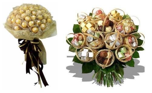 букет из конфет для свадьбы