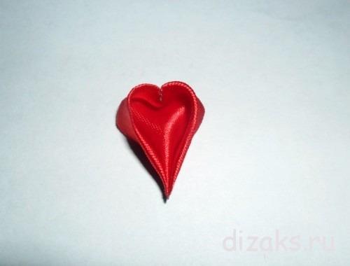 канзаши лепестки сердечки