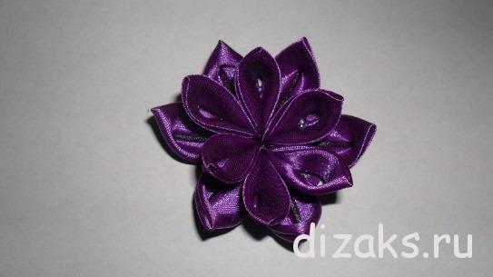 простой цветок канзаши