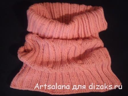 шарф труба круговыми спицами