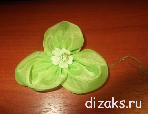 резинки для волос с цветами из ткани