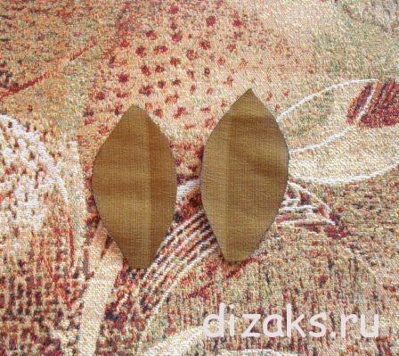 пион из ткани