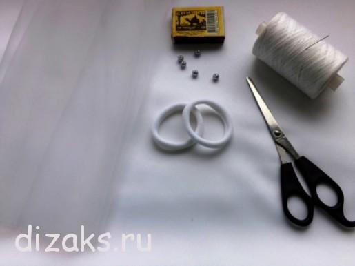 Резинки   для  волос  с цветами из органзы-материалы