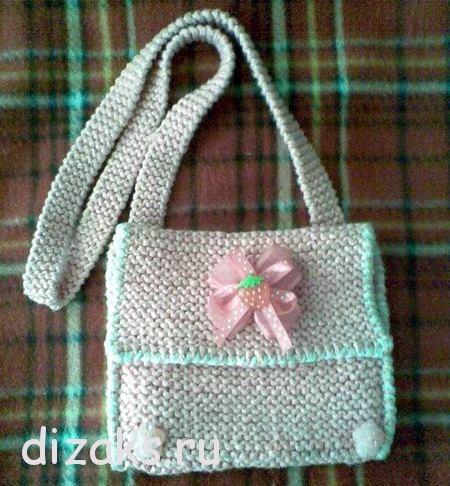 Вязаная сумка для девочки своими руками