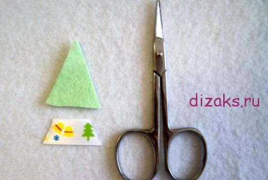 отрезать кусок декоративной ленты
