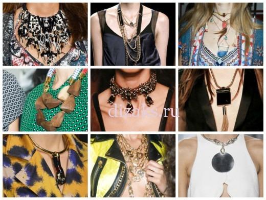 модные ожерелья 2015