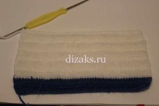 вяжем шарф в полоску