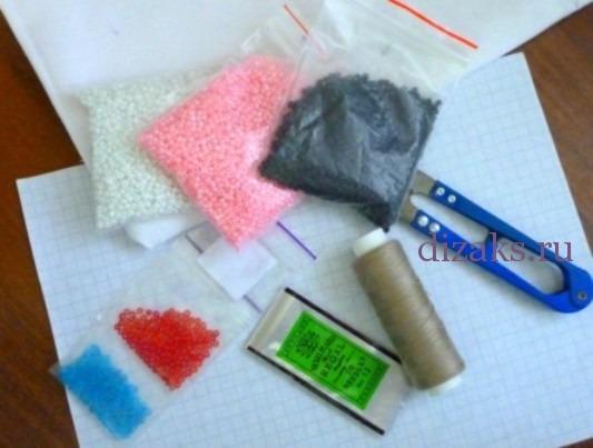 материалы для брелка из бисера