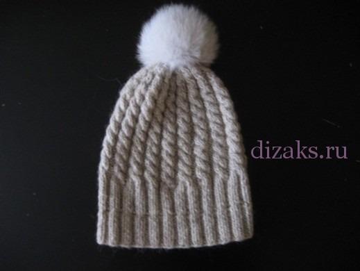 шапка с отворотом 7