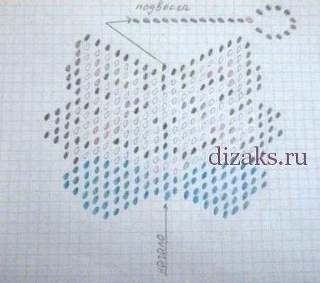 схема плетения брелка