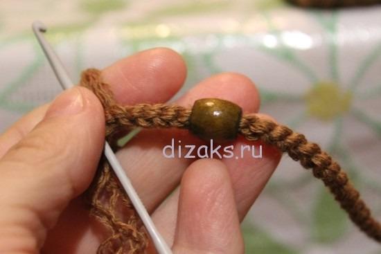 как связать шнур крючком