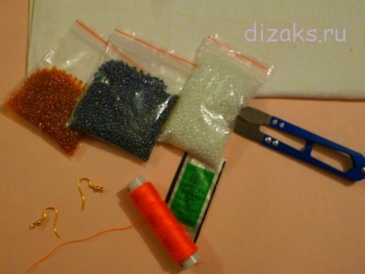 материалы и инструменты для плетения сережек