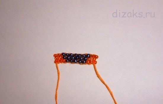 плетение серьги из бисера