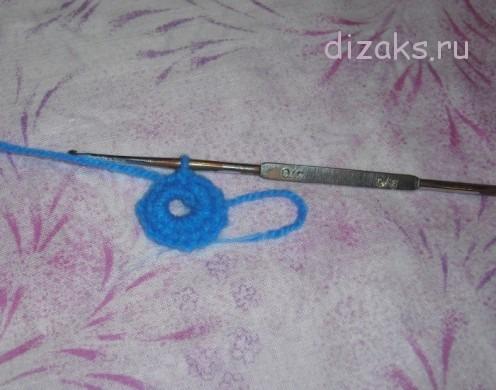 обвязать кольцо столбиками без накида