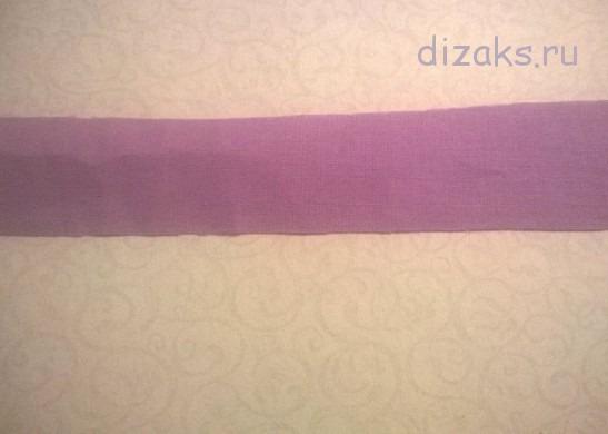 полоска ткани для цветка