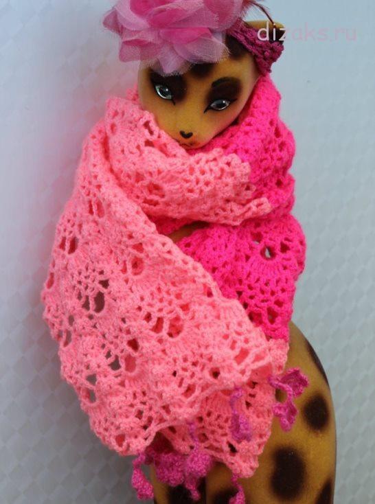 ажурный шарф крючком