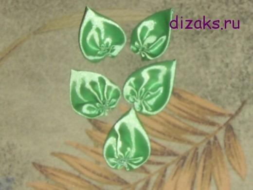листья для брошки