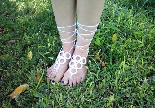 митенки на ноги крючком для начинающих