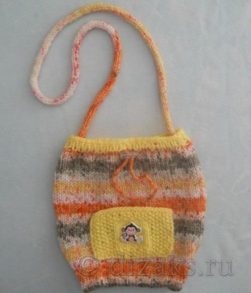 связать сумку спицами для ребенка