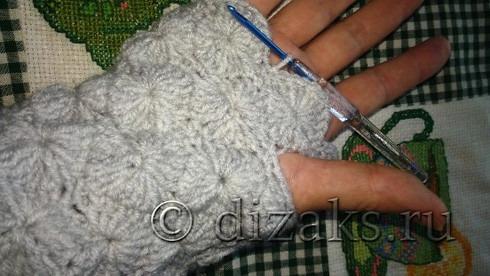 вязание митенок
