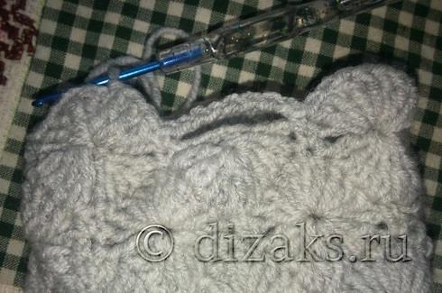 вязание митенок крючком